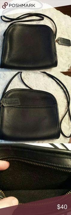 Coach Vintage Black Leather Shoulder Bag Super cute!  Coach Vintage Black Leather Shoulder Bag  Good condition /gently used Coach  Bags Crossbody Bags