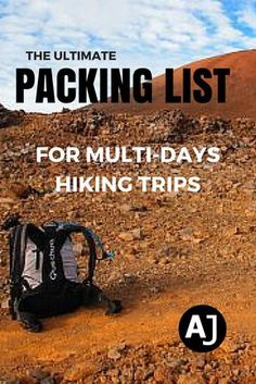 Don't forget anything important back home with this complete checklist for multi-days hiking trips.