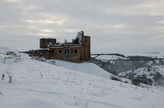 Crichton Castle in winter by Jim Barton - near to Crichton, Midlothian, Great Britain