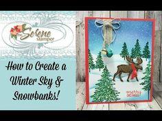 Homemade Christmas Cards, Christmas Cards To Make, Xmas Cards, Christmas Crafts, Sponging, Winter Sky, Christmas Catalogs, Card Making Techniques, Winter Cards