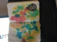 Wreck this journal, food colouring all over the page :)