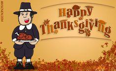 Mike celebra el día de acción de gracias o Thanksgiving day