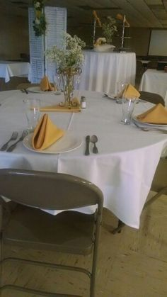 Tables set, lets have a party! Blue Heron Events Greencastle PA