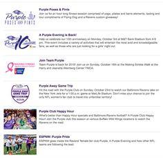 Baltimore Ravens Women's fan engagement http://www.baltimoreravens.com/ravenstown/purple.html