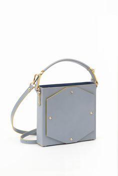OPHELIA Blue leather Handbag by BET Barcelona www.bet-barcelona.com