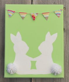 The Moody Fashionista: Easter Bunny Canvas