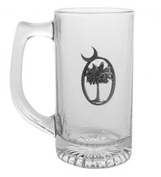 Set of 4 Glass Tankards, Pewter Accent - 9 Pattern Options