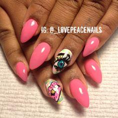 Dope Nail Art #dope #nailart #nails #stillettonails