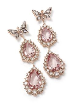 Earrings in rose gold with morganites and diamonds (Foto: H Stern)