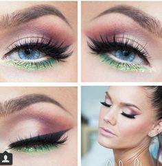 Tinkerbell inspired makeup