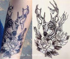 Картинки по запросу олень с цветами