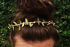 gold woodland flower crown gold halo headband by loandbehold