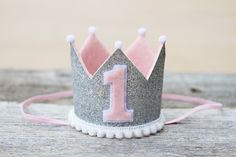 Even cuter in person- LOVE this mini crown!! The perfect little accessory for your lil princess on her special day!  It is a mini crown in sparkly