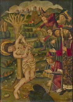 """Martirio de San Sebastián"", Anónimo, Segunda mitad del siglo XV"