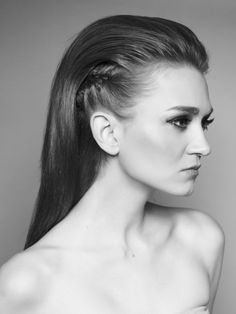 slicked back faux hawk women, front view - Google Search