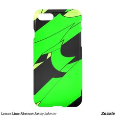 Lemon Lime Abstract Art iPhone 7 Case