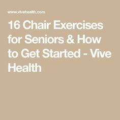 18 Chair Exercises for Seniors & How to Get Started 16 Chair Exercises for Seniors & How to Get Started – Vive Health Exercise Activities, Elderly Activities, Dementia Activities, Chair Exercises, Aerobic Exercises, Balance Exercises, Senior Fitness, Chair Makeover, New People