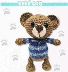 Ricitos de Oro: Bebé Oso Crochet Shawl, Crochet Doilies, Crochet Flowers, Gillet, Lana, Mandala, Crafts For Kids, Teddy Bear, Blanket