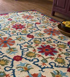 "Lancaster Folk Art Wool Rug, 9'3"" x 13' | Collection Accessories"