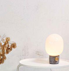 'JWDA' metallic lamp by jonas wagell