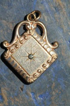 Antique 19th C. Gold FIlled Watch Fob Great for Steampunk.