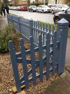 Grey picket fence