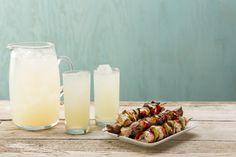 Kabobs & Lemonade Kabobs, Mediterranean Recipes, Pillar Candles, Lemonade, Glass Of Milk, Skewers, Kebabs, Candles, Root Beer