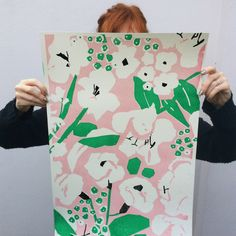 Graphic Design Discover 3 Colour Screen Print Part of a limited edition of 10 Hand printed signed and editioned by me. Textured Clairefontaine Paper 38 x 52 cm Textile Prints, Textile Patterns, Print Patterns, Floral Patterns, Textile Design, Linocut Prints, Poster Prints, Art Prints, Screen Print Poster
