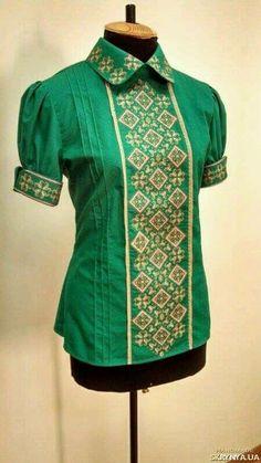 Цікава ідея Short Kurti Designs, Ethnic Design, Folk Fashion, Modern Embroidery, Blouse Designs, Crochet, Tunic Tops, My Style, How To Wear