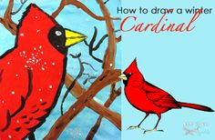 winter-cardinal-art-lesson
