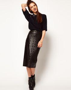 ASOS Cutwork Pencil Skirt