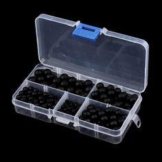 340 unids / set Hot Sale Mate Onyx Natural Stone Balls 4/6/8 / 10mm DIY Jewelry Box Bracelet & Necklace Para La Joyería Para