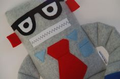 NerdBot Robot Plushie Medium by SnowMachine on Etsy