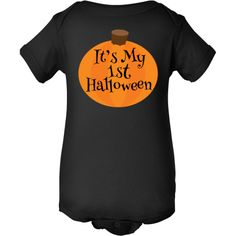 It's my 1st Halloween Infant t-shirt holiday gift has colorful orange pumpkin design for baby's first Halloween party. $16.99 www.virtuosodesigner.com #1stHalloween #Halloween #baby