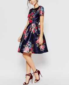 Buy Chi Chi London Midi Prom Dress with Full Skirt and Sleeve at ASOS. Get the latest trends with ASOS now. Midi Dress Outfit, Asos Dress, Dress Skirt, Dress Outfits, Dress Up, Navy Dress, White Dress, Asos Bridesmaid Dress, Spring Bridesmaid Dresses