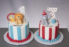 Circus animal smash cakes