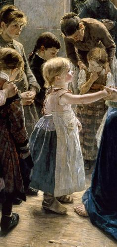 Fritz von Uhde - Let come the child flax come to me