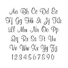 cursive letter stencils printable - Google Search