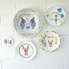 Deer and bunny plates