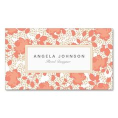 Ornate Floral Business Cards
