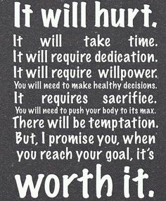 It's worth it...