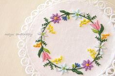 Spring flower doily ☆ Original picture sketch Ⅰ の画像 Nui nui 生活 in TOKYO