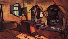 The kitchen in the house Manhaus : Amadeo de Souza Cardoso : Cubism : interior - Oil Painting Reproductions Urban Painting, Painting & Drawing, Collages, Cubist Art, Modernisme, European Paintings, Portraits, Oil Painting Reproductions, Sculpture