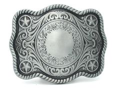 Western Cowboy Star Design Belt Buckle
