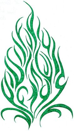 Flame Stencil Design | flame-tribal-tattoo-design-by-cherry-cheese-cake-tattoo-design