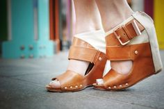 Strappy Wedge Neutral Heel