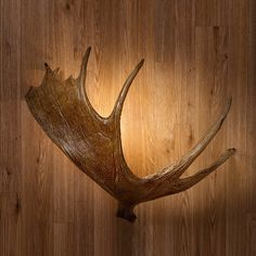 Add some rustic lighting to your log cabin, rustic lodge, or country cottage with our Moose Antler Sconce.