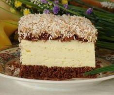 Biszkopt z kremem serowym, karmelem i prażonym kokosem Simply Yummy, Cheesecake, Vanilla Cake, Baked Goods, Baking Recipes, Tart, Food And Drink, Cooking, Desserts