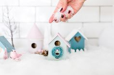 see how to make your own Christmas village