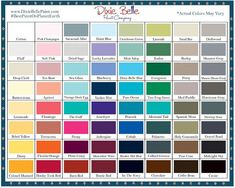 Annie Sloan Colour Chart Color In 2019 Pinterest